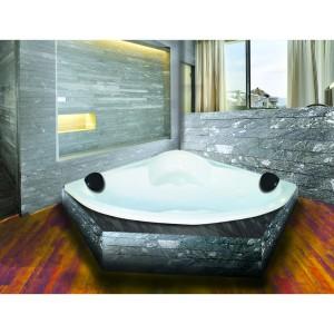 Bathtub Sudut Valencia (Paket Jacuzzi+Washtafel Kabinet+Cermin)
