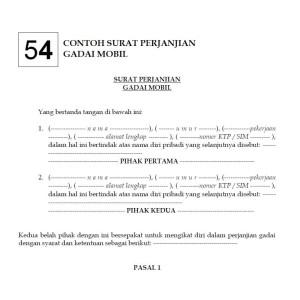 Jual Contoh Draft Akta Notaris Perjanjian Kota Payakumbuh Dokumenku Tokopedia