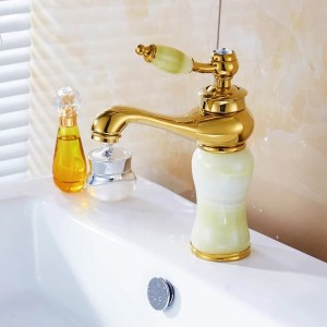 Kran wastafel kuningan klasik / Basin faucet antique gold