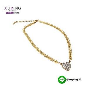 XUPING KALUNG RANTE DAUN BANDUL GOLD ZIRCON 0111190109