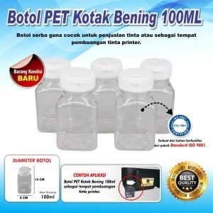 Botol PET Kotak Pembuangan CISS 100 ML Dan Selang 5MM