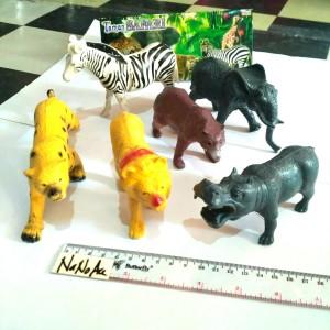 mainan Hewan Karet pajangan jungle animal safari