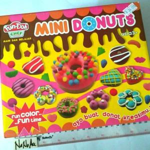 Mainan Play doh mini donut fun-doh donat