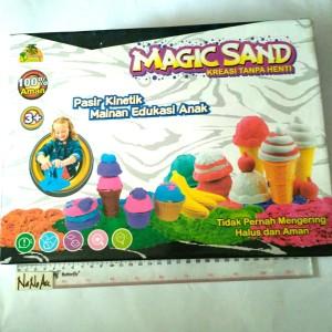 Magic sand ice cream pasir ajaib es krim cone 2