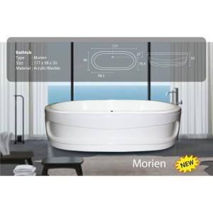 Bathtub Standing Morien - free avur+kran Mixer dan Shower+Tissue box