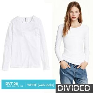 Divided Kaos Putih Panjang Pakaian Branded Original Murah