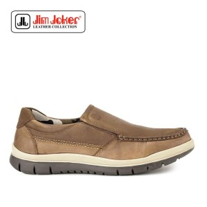 Sepatu Jim Joker More Slip On Kasual Tan Pria Original