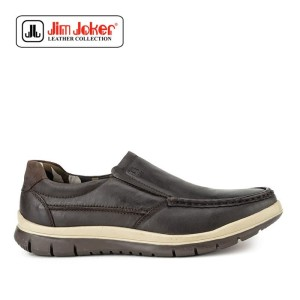 Sepatu Jim Joker More 1c Slip On Kasual Brown Pria Original