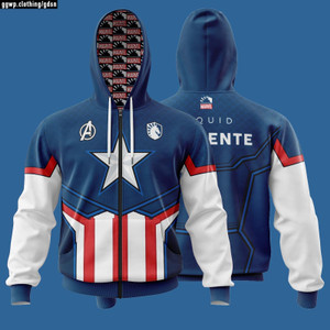 JAKET HOODIE GAMING DOTA 2 CS GO LOL PUBG TEAM LIQUID X MARVEL CA