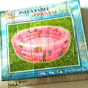 kolam renang karet, kolam mandi bola portable besar