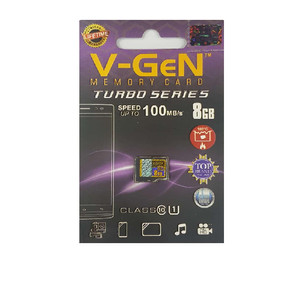 V-gen Micro SD Vgen 8GB Class 10 TURBO SERIES Memory Card HP 8 GB NA