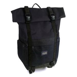 Lomberg Flaptop Denim Black - Tas Ransel Denim - Bonus Tas Kamera