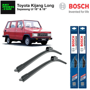 "Wiper Frameless Toyota Kijang Long ukuran 80"" & 18"""