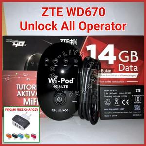 Jual Modem ZTE WD670 WiFi 4G Unlock ALL Operator MiFi TELKOMSEL - FREE 14GB  - Hitam - DKI Jakarta - Liya Amoorea Tosca | Tokopedia