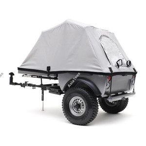Team Raffee Co. 1/10 Pop-Up Camper Tent Trailer Kit with 1.55 Tire Set