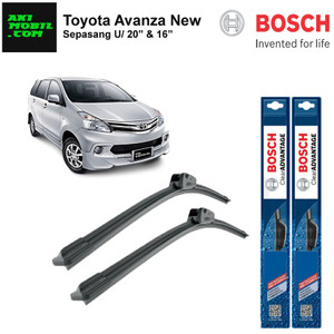 "Wiper Frameless Toyota Avanza New Ukuran 20"" & 16"""