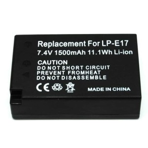 Battery Replacement for Canon LP-E17 1500mAh