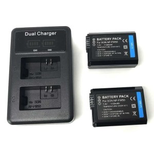 Charger Baterai Travel + 2 x Baterai 1130mAh for Sony - NP-FW50