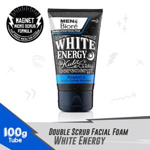 MEN'S BIORE Double Scrub Facial Foam White Energy 100 gr