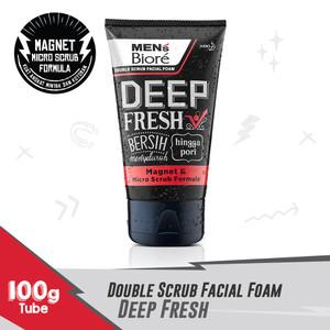 MEN'S BIORE Double Scrub Facial Foam Deep Fresh 100 gr