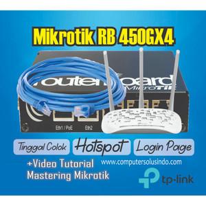 Paket Hotspot Indoor dengan Mikrotik 450GX4