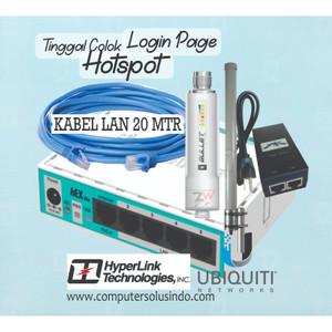 Paket BTS Hotspot 1 Bullet M2HP Plus L-Com Hyperlink HG2415U