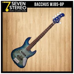 Bacchus WJB5-BP 5 strings Electric Bass blue sunburst