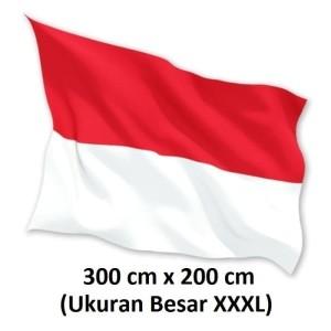BENDERA INDONESIA MERAH PUTIH 300cm x 200cm Bahan Satin 100% Premium