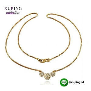 XUPING KALUNG BANDUL BUNGA GOLD ZIRCON 0111190175