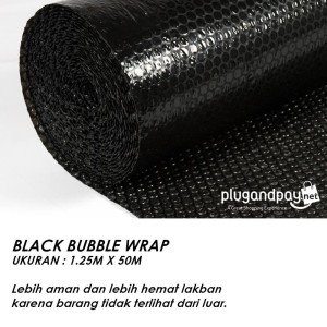 Bubble Wrap 1.25m x 50m (1,25m x 50m) 3kg HItam