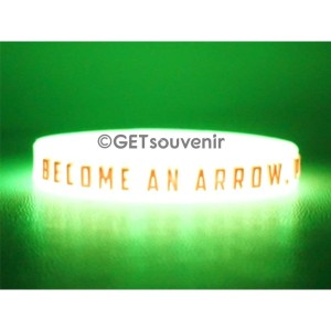 Gelang karet glow in the dark motif timbul desain custom 50pcs