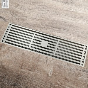 Floor shower drain 30cm x 10cm tile insert