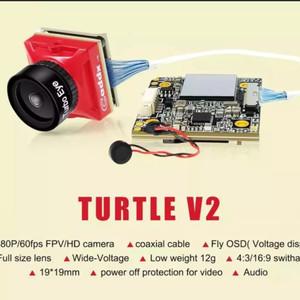 Caddx Turtle v2 1080p 60fps mini HD FPV audio camera with DVR