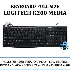 Keyboard Logitech K200 Media USB - RESMI