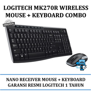 Mouse + Keyboard Wireless Logitech MK270R Mouse and keyboard combo