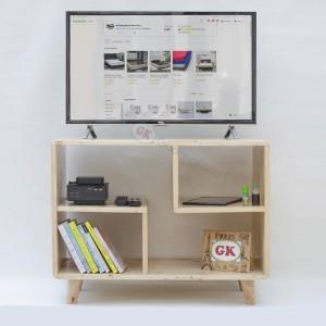 Meja TV kayu jati belanda