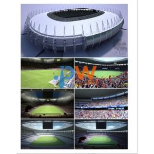 soccer stadium cf - stadion Model sepak bola tiga dimensi