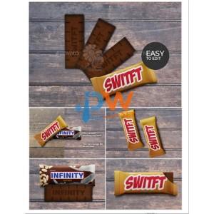 graphicriver chocolate bar pack mockups