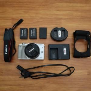Canon EOS M3 Kit 15-45 IS STM Kamera Mirrorless Super Mulus Bonus