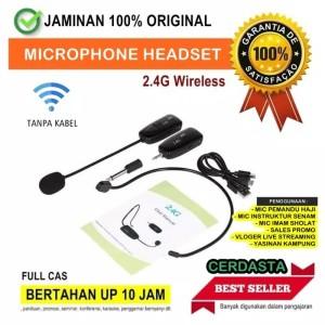 Cerdasta Mic Imam Microphone Headset 2.4G Wireless Megaphone