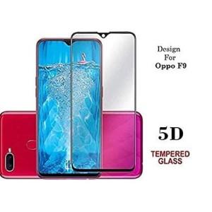 Tempered Glass Full Cover For Oppo F9 - Black