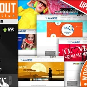 Zoom Slider Masuk / Keluar Responsif - Plugin WordPress