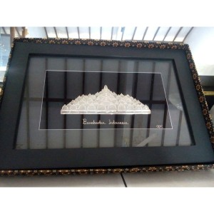 Frame Candi Borobudur Khas Kotagede Silver Yogyakarta