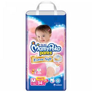Mamypoko Pants Extra Soft M 34 Boy and Girl Mamy Poko Ekstra Lembut