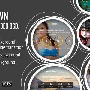 CountDown Dengan Gambar atau Video Latar Belakang