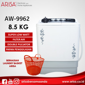 ARISA AW-9962 Mesin Cuci Black