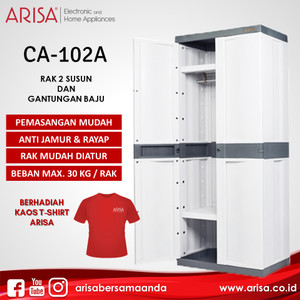 ARISA CA-102A Lemari Grey