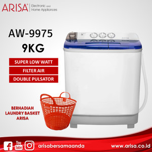 ARISA AW-9975 Mesin Cuci Blue