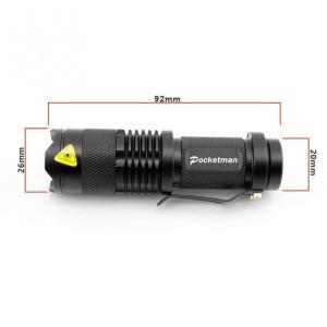 Murah! Laris! TaffLED Senter LED 2000 Lumens Waterproof Pocketman P1