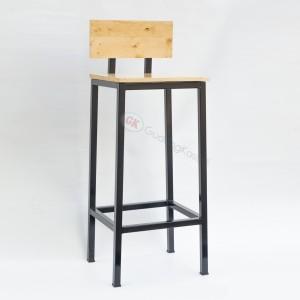 Kursi cafe bar besi kayu jati belanda